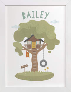Treehouse Children's Custom Art Print