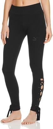 PUMA Lace-Up Leggings $45 thestylecure.com
