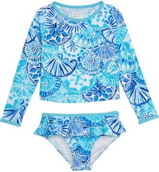 Lilly Pulitzer R) Cora Two-Piece Rashguard Swimsuit