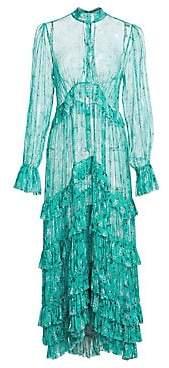 Zimmermann Women's Moncur Pleated Silk Floral Shirtdress