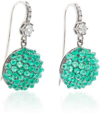 Nam Cho 18K Gold, Emerald And Diamond Earrings