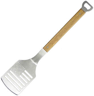 Natico Gourmet Stainless Steel and Wood Spatula with Bottle Opener