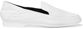 Robert Clergerie - Fanim Collapsible-heel Leather Loafers - White $495 thestylecure.com