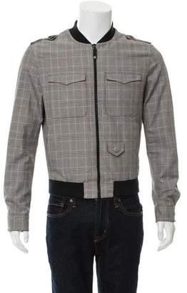 Gucci Plaid Bomber Jacket