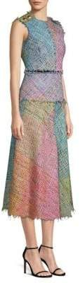 Escada Dalira Multicolor Tweed Midi Dress