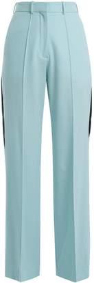 RACIL Cumberland side-stripe wide-leg wool trousers