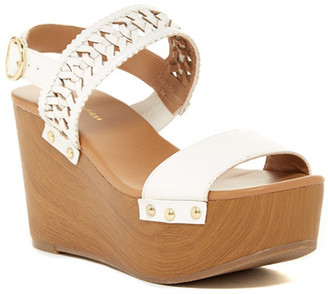 Tommy Hilfiger Rubena Platform Wedge Sandal $69 thestylecure.com