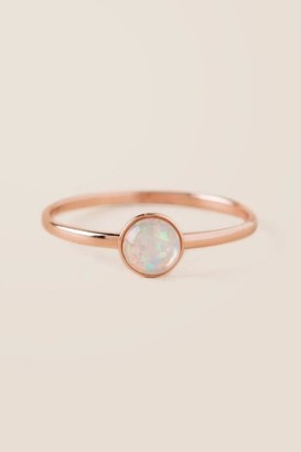 francesca's Reina Rose Gold Opal Ring - Rose/Gold