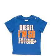 Diesel (ディーゼル) - DIESEL Kids ロゴプリント 半袖トップ ブルー 18m
