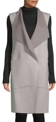 Soia & Kyo Turndown Sleeveless Coat