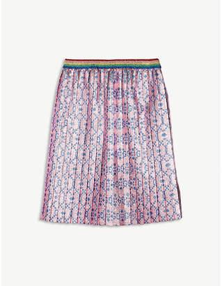 Gucci Logo metallic pleated lurex skirt 6-12 years