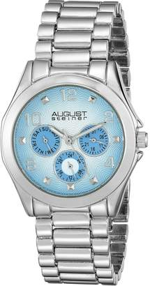 August Steiner Women's AS8150SS Analog Display Japanese Quartz Silver Watch