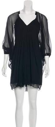 Diane von Furstenberg Semi-Sheer Mini Dress