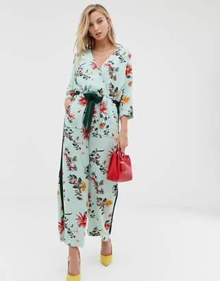 5e19f86d32b Blue Floral Jumpsuit - ShopStyle UK