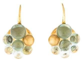 Pomellato 18K Aquamarine Cluster Earrings