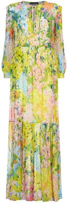 Moschino Watercolour Floral Chiffon Dress