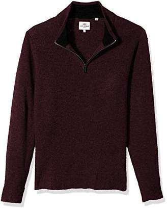 Ben Sherman Men's Micro Quarter Zip Funnel Neck