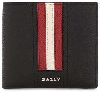 Bally Logo Stripe Leather Billfold Wallet