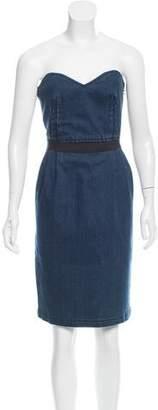 Lanvin Denim Pleated Dress