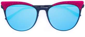 Italia Independent contrast sunglasses