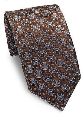 Isaia Men's Medallion Silk Tie