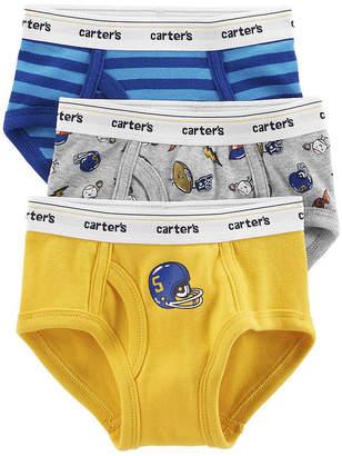 carter s underwear 3 pair briefs preschool boys