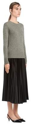 Prada Cable-Knit Cashmere Crew-Neck Sweater