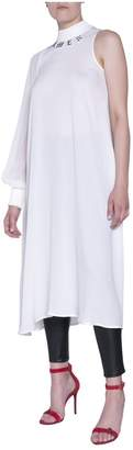 Amen One-shoulder Georgette Dress