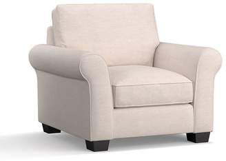 Pottery Barn PB Comfort Roll Arm Upholstered Armchair