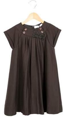 Tartine et Chocolat Girls' Bow-Adorned Shift Dress w/ Tags
