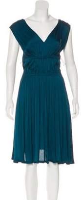 Lanvin Sleeveless Midi Dress Teal Sleeveless Midi Dress