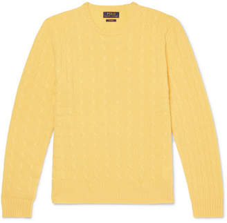 Fitted Cable Knit Sweater Men Shopstyle