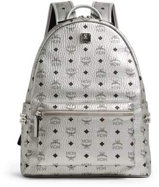 MCM Studded Stark Metallic Backpack
