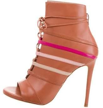 Ruthie Davis Courtney Peep-Toe Ankle Boots w/ Tags