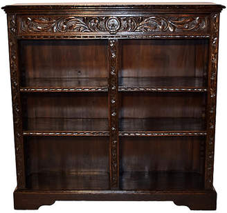 One Kings Lane Vintage 19th-C. English Carved Bookcase - Black Sheep Antiques