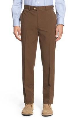 Men's Bensol Trim Fit Stretch Cotton Ottoman Trousers $125 thestylecure.com