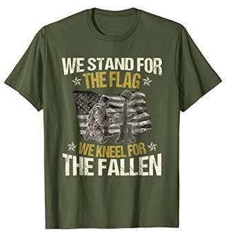 Stand For US Flag Kneel Fallen American Soldier T-Shirt