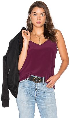 Chaser V Neck Drape Back Cami in Purple $83 thestylecure.com