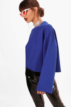 boohoo Oversized Wide Sleeve Sweatshirt
