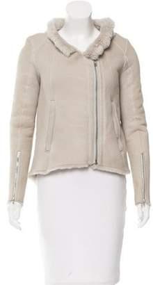 Helmut Lang Long Sleeve Shearling Jacket