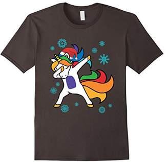 Christmas Dabbing Unicorn T Shirt Funny Christmas Tee Gift