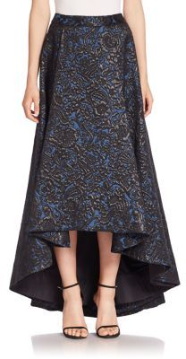 Alice and Olivia Cohe Floral Embossed High-Low Skirt $795 thestylecure.com
