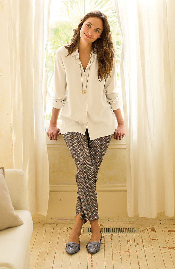 J. Jill Perfect side-zip print ankle pants