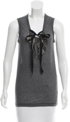 Vera Wang Sleeveless Embellished Top $80 thestylecure.com