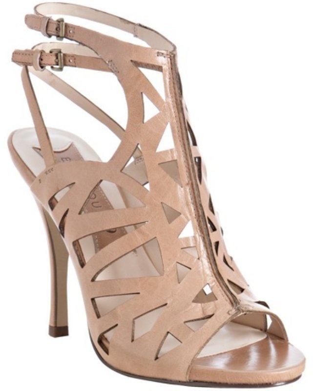 Boutique 9 nude cutout leather 'Javan' sandals