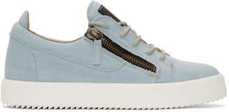 Giuseppe Zanotti Blue Denim May London Sneakers