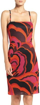 Women's Trina Trina Turk Pernilla Mesh Sheath Dress $158 thestylecure.com