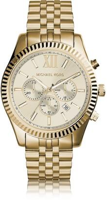 Michael Kors Lexington Gold Tone Stainless Steel Men's Chrono Watch