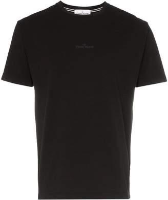Stone Island reverse logo print cotton T-shirt