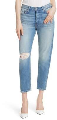 GRLFRND Kiara High Waist Ankle Boyfriend Jeans